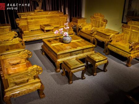 雕象沙发十三件套