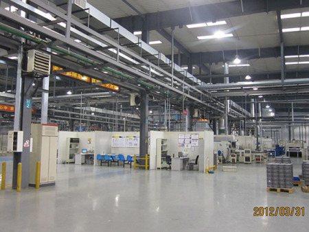 納鐵福傳動系統長春分廠項目二期施工現場