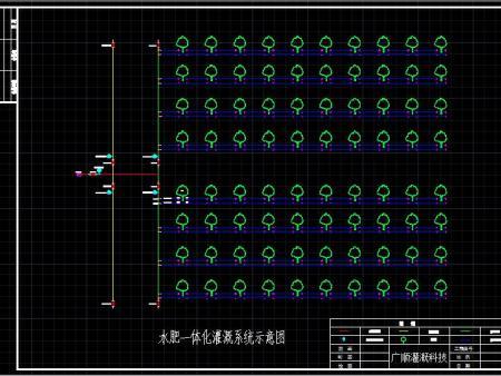 滴灌设计安装示意图(规划图)