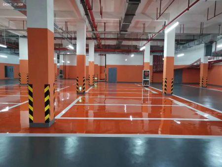广西德艺创新工坊地上停车场环氧自流平地坪工程