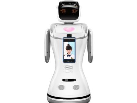 小酷人脸识别体温监测机器人