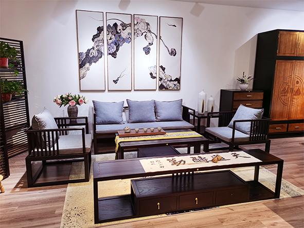新中式實木沙發