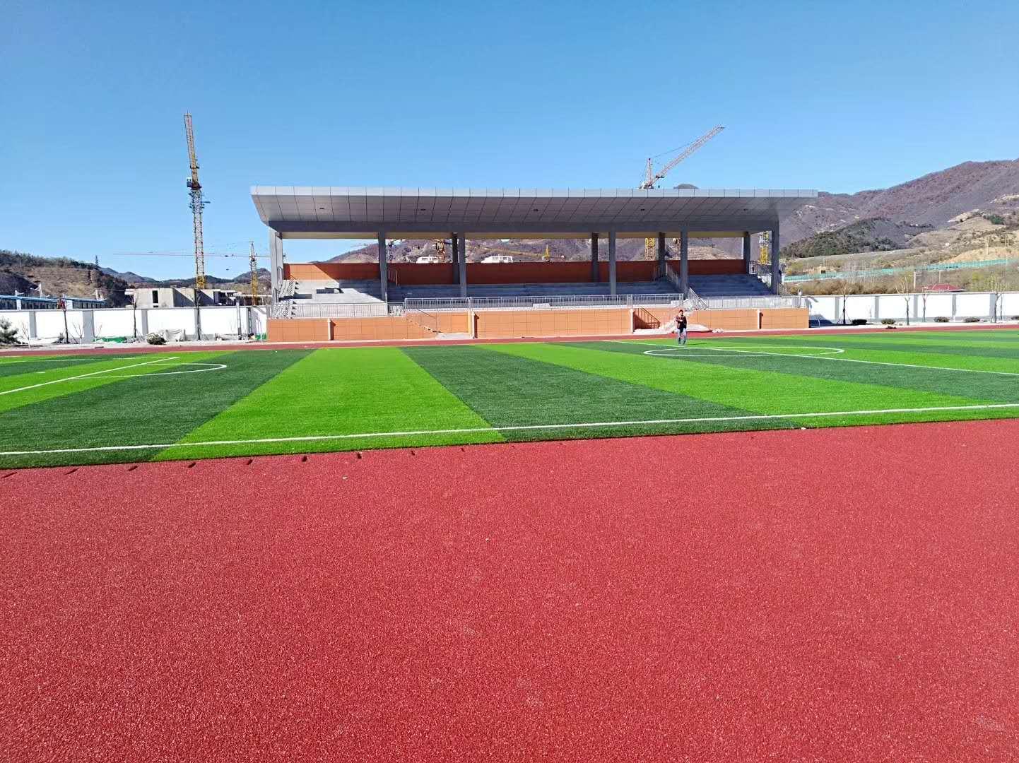 足球场草坪施工
