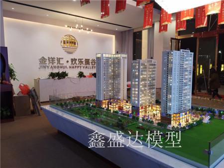 中國東盟信息港小鎮模型安裝到位