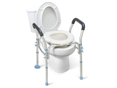 Tool Free Aluminum Adjustable Over Toilet Seats
