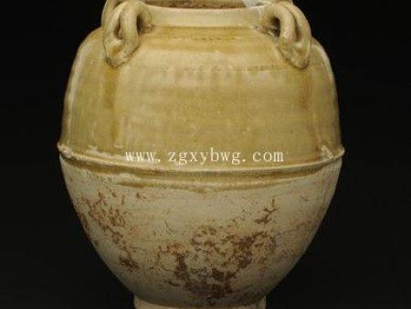 隋青釉三釉罐