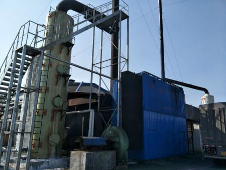 采用石灰石脱硫工艺的砖厂脱硫塔运行成本比较的低
