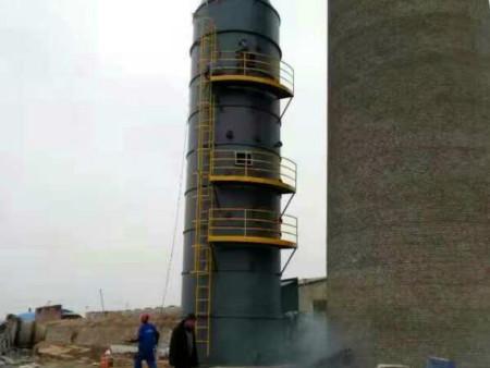 产生高压水流和水雾有利于烟气脱硝塔的空气净化