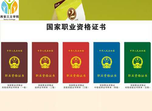 西安三立职业技术学院颁发国家资格类证书