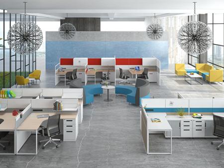 辦公家具定制介紹屏風隔斷辦公桌優缺點