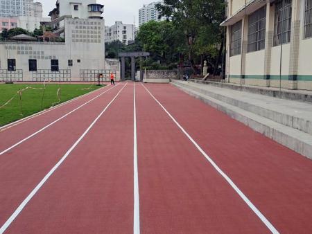这一片东方红,美丽、健康又环保——南宁市第五中学预制型跑道竣工!广西预制型跑道