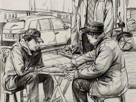 甘肃高考美术培训-美术速写当中构图的具体表现手法