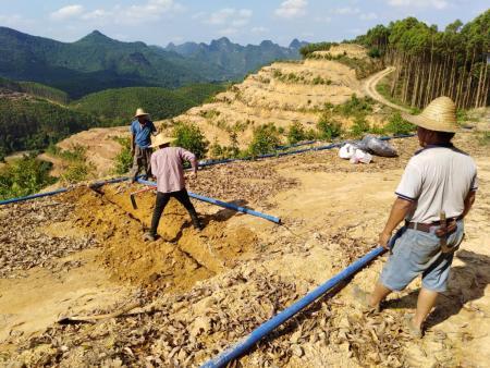 广西山地灌溉管滴灌管安装填埋