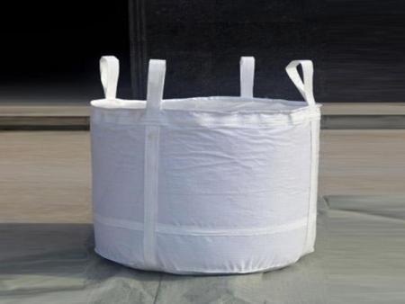 敞口十字兜底圆吨包形