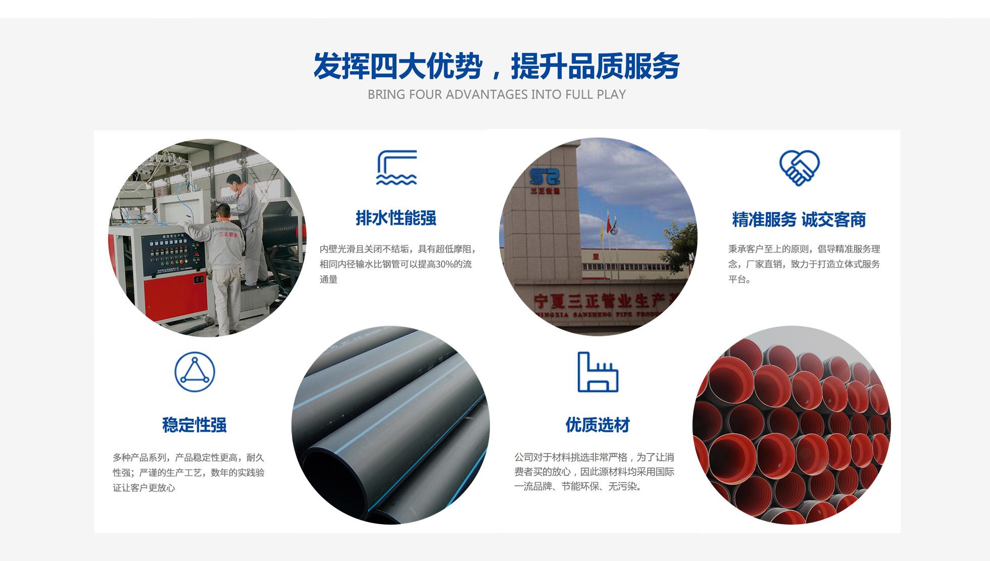 寧夏給水管生產、銀川雙壁波紋管銷售
