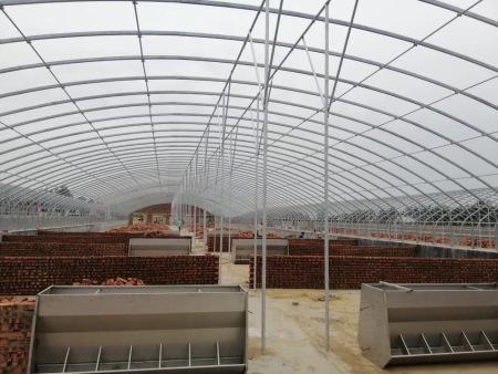 永金温室工程养殖大棚建设视频