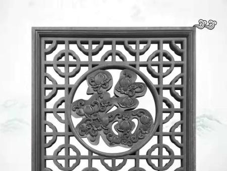 方形福字花窗砖雕
