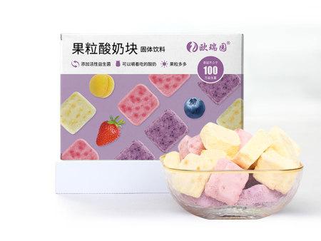果粒酸奶块