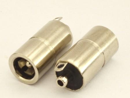 电源母座 5517 直径8.0 带片电源母座 DC电源母头 5517母座 5021