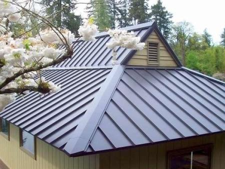 别墅安装铝镁锰矮立边屋面板