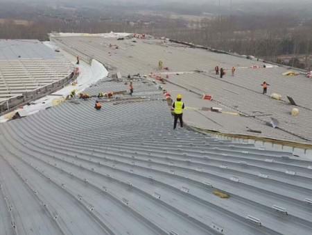 飞机检修库使用铝镁锰直立锁边金属屋面