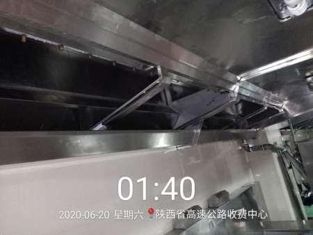 西安单位食堂大型油烟机油烟管道清洗