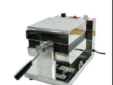 乐呵呵商用旋转式华夫炉单头 水滴型心形松饼机不锈钢甜点烘烤机烤箱