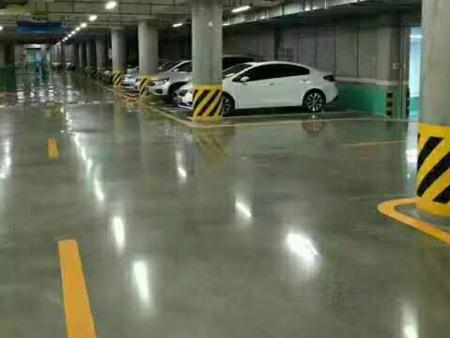 停车场固化地坪施工样板