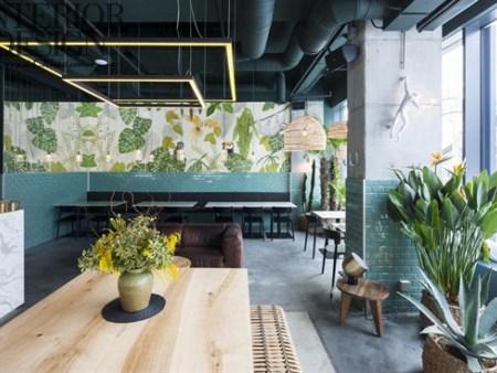 众派思商业设计分享 | 罗马尼亚Kane World Food Studio绿色餐厅设计