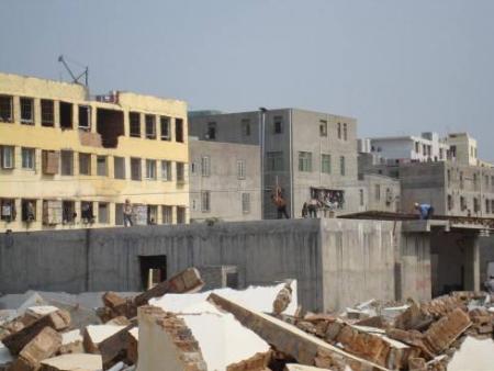 房屋拆除改造現場