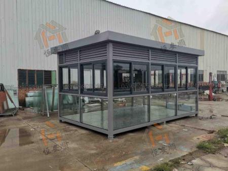 工厂户外移动吸烟亭定做有哪些材质可选择