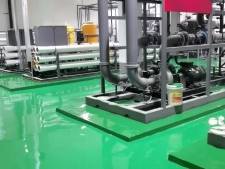辽宁立为电子科技有限公司车间环氧树脂砂浆地坪工程竣工效果