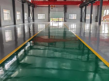 海城市海通数控机床有限公司车间混凝土密封固化剂地坪工程竣工效果