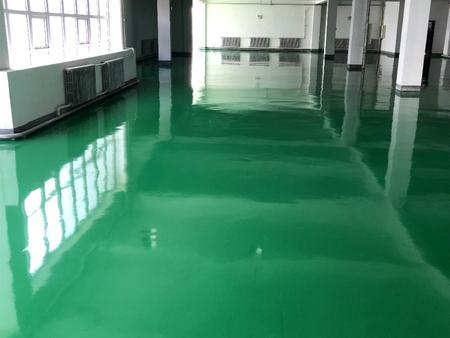 鞍山垃圾处理厂环氧树脂自流平地坪工程竣工效果