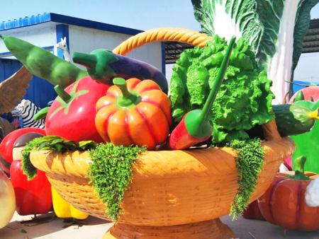 創意蔬菜種子雕塑