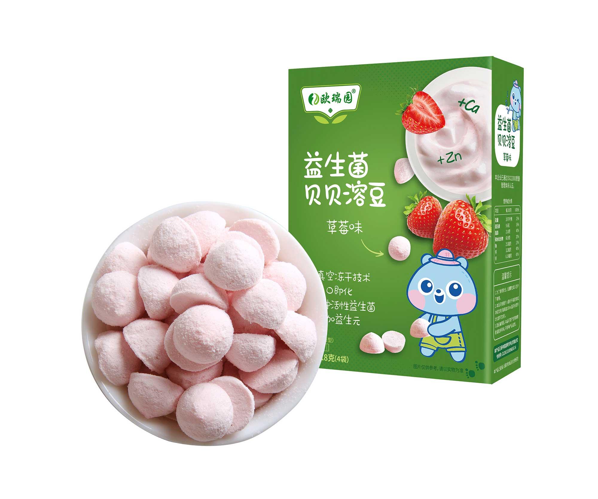 益生菌酸奶溶豆草莓味