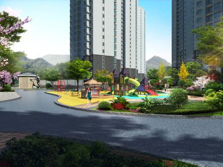 达川三江口棚户区改造局部-园林景观设计