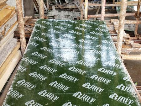 覆塑模板基板预压缩后的平板修复