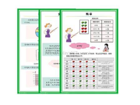 中学数学统计与概率教学挂图