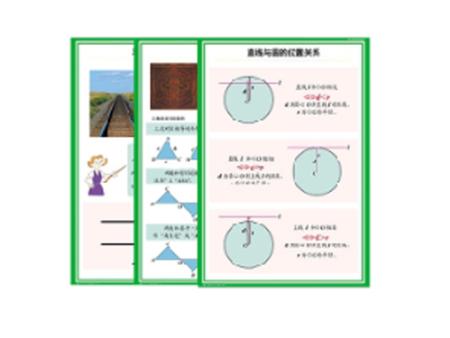 中学数学空间与图形教学挂图
