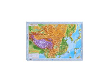 中国立体地形模型