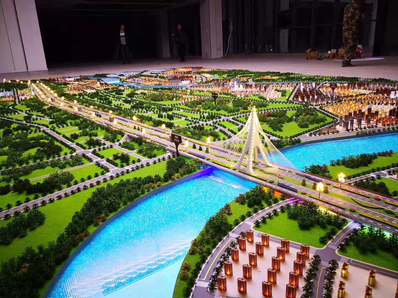 南寧模型公司作品成都市東西城市軸線總體規劃模型