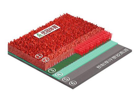 预制型草坪塑胶跑道