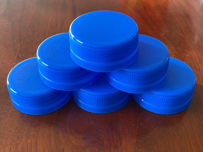 藍色脈動口瓶蓋