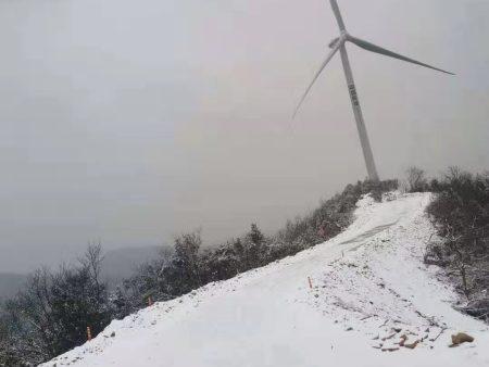 湖南株洲贺家桥50兆瓦风电场风机及箱变安装工程