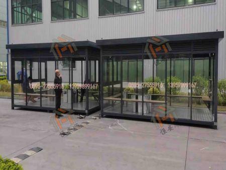 漳州华安工业区钢结构工厂吸烟亭