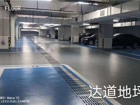 廣西建行大廈地下車庫地坪漆完工前后對比
