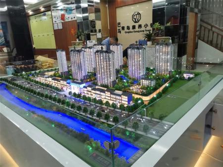 南寧沙盤模型公司作品-巴馬青島康養小鎮地產模型項目