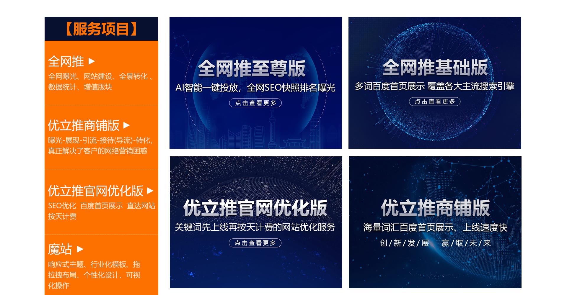 山东全网推网络科技有限公司服务项目