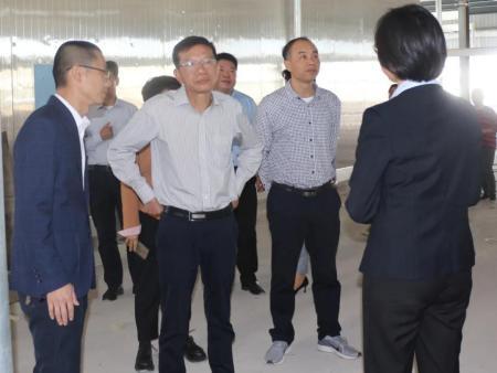 市工信局局长苏斌钢莅临澳闽利康生物科技有限公司,考察调研企业建设情况